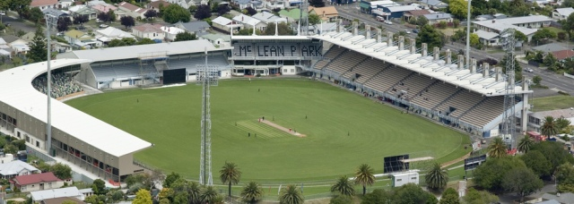 Itty-bitty boundaries mar (otherwise) picturesque McLean Park in Napier, New Zealand (Source: icccricket-worldcup.com)